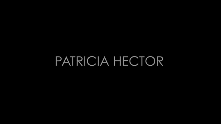 Patricia Hector Showreel Demoband Video